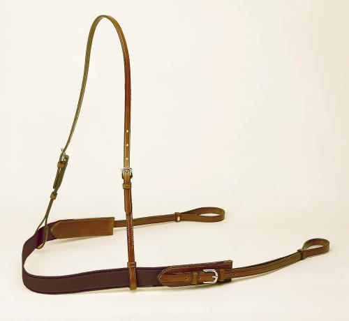 TORY LEATHER Bridle Leather and Elastic Polo Style Breast Plate