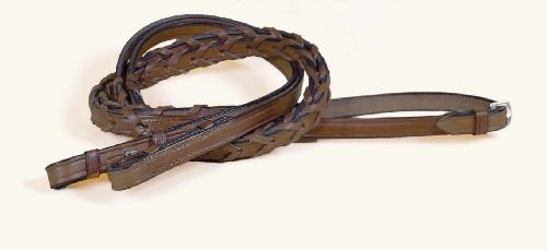 TORY LEATHER English Bridle Leather Laced Reins