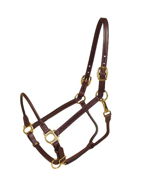 TORY LEATHER Cob Halter - Rolled Nose & Throat