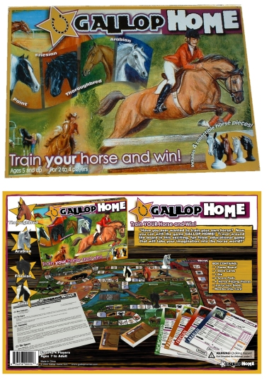 Gallop Home Board Game - Train Your Horse and WIN!