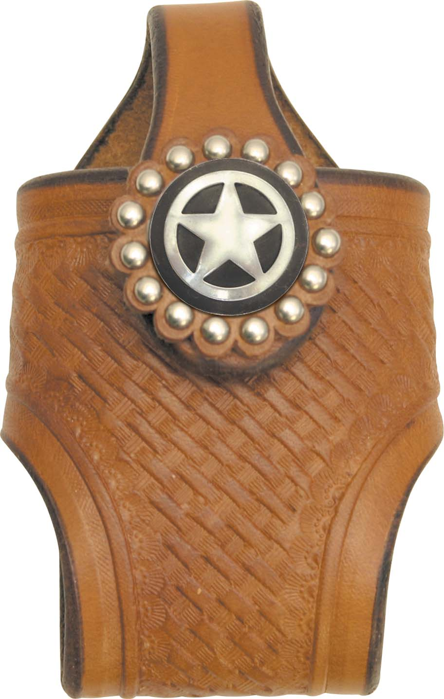 Abetta Tx Concho Basket Tooled Cell Holder