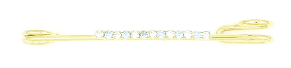 Finishing Touch Crystal Strip Stock Pin - Light Sapphire