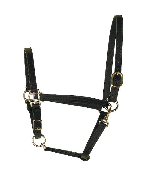 "Perri's 3/4"" Leather Turnout Halter"