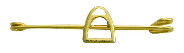 Perri's Gold Stirrup Iron Stock Pin