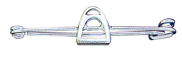Perri's Silver Stirrup Iron Stock Pin