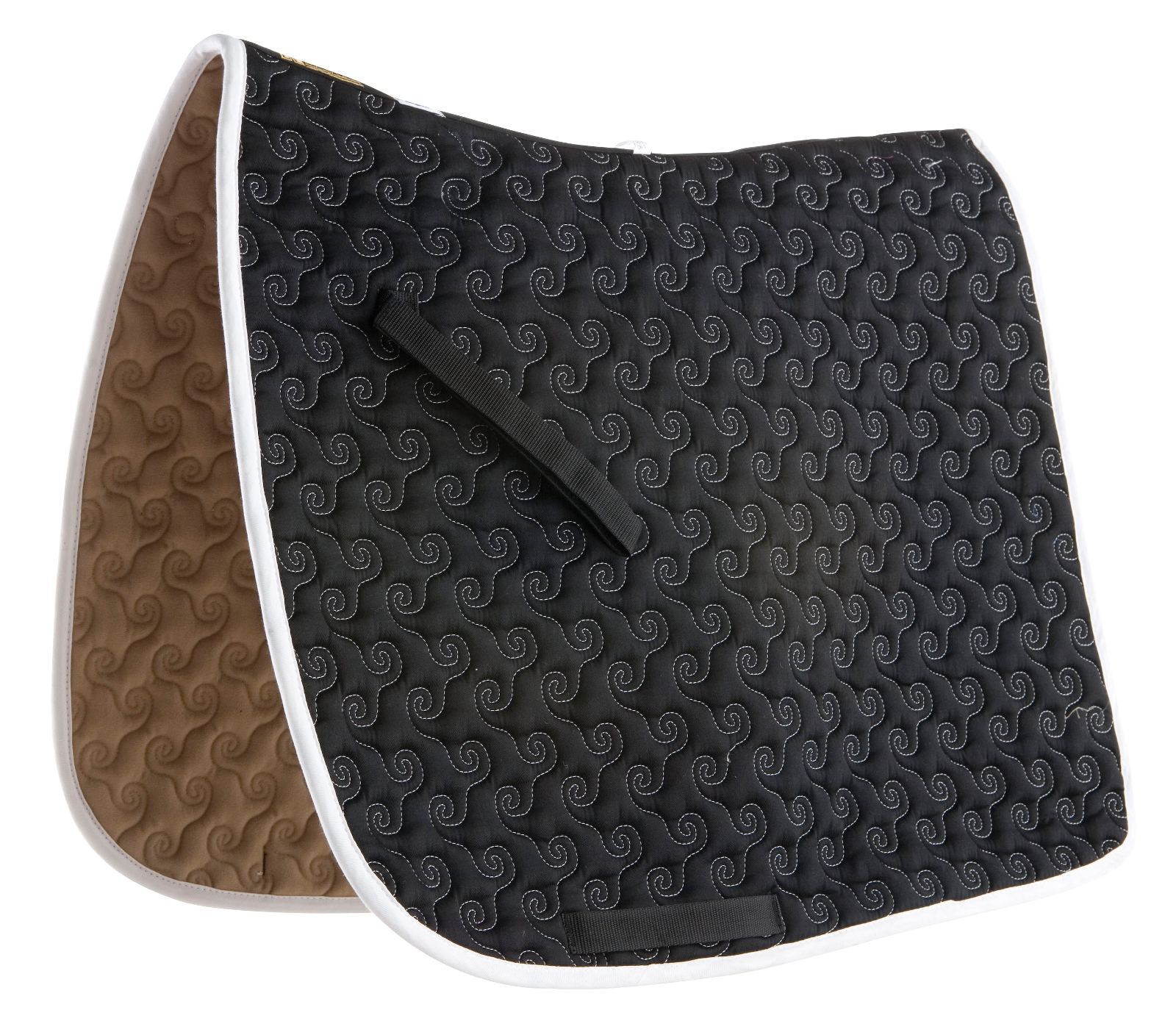 Roma Ecole Contrast Stitch Swirl Quilt Saddle Pad