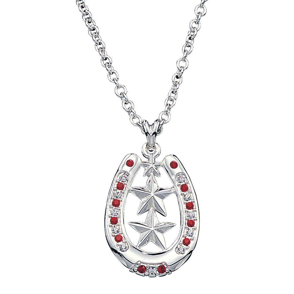 Montana Silversmiths Horseshoe Necklace with Star Center and Rhinestones