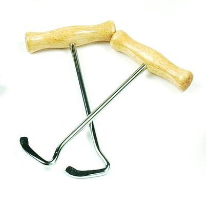 Boot Hooks Wood Handle