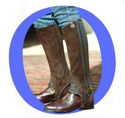 Ovation Childs Premium Suede Stretch Half chaps.