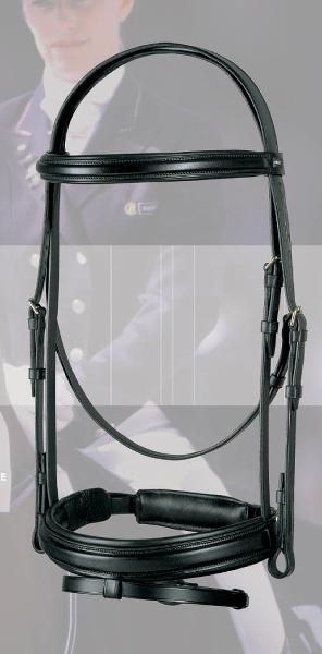 ANKY Snaffle Bridle w-Flash and Hook Studs