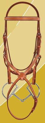 Ovation Jumper Bridle with figure eight noseband less reins.