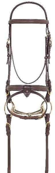 4-STAR: Raised Padded Bridle w- Removable Flash