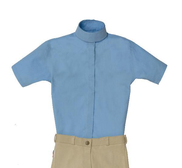 Equi-star EZE Care Child Short sleeve Cotton show shirt.