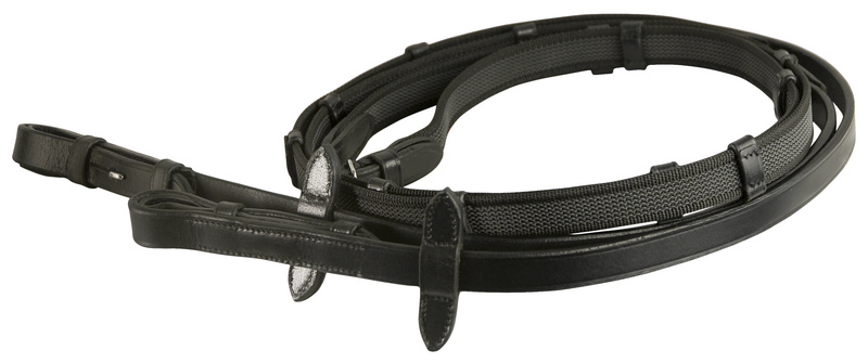 DaVinci Web Rubber Woven Anti-Slip Reins with Hook Stud Ends