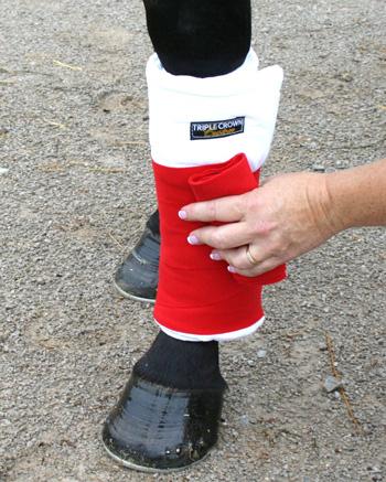 Triple Crown Leg Wraps without hook & loop fastener