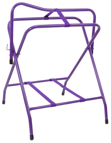 Tough-1 Folding Floor Saddle Rack with Web Bottom