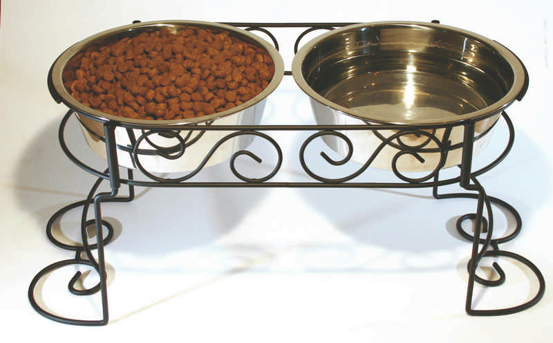 SS Scroll Work Double Diner