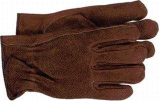 12 Pair - Split Leather Gardening and Work Gloves