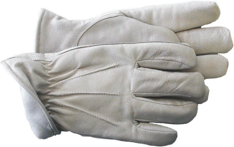 12 Pair - Lined Leather Outdoor Work Gloves