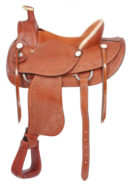 Royal King San Marcos Rancher Saddle with Padded Suede Seat