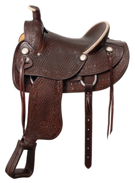 Royal King San Marcos Rancher Saddle with Hard Seat
