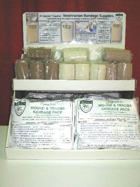 VET BANDAGE DISPLAY / Tapes-Wraps- W & T Packs