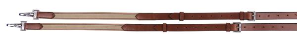 Henri de Rivel Side Reins - Leather With Elastic Insert