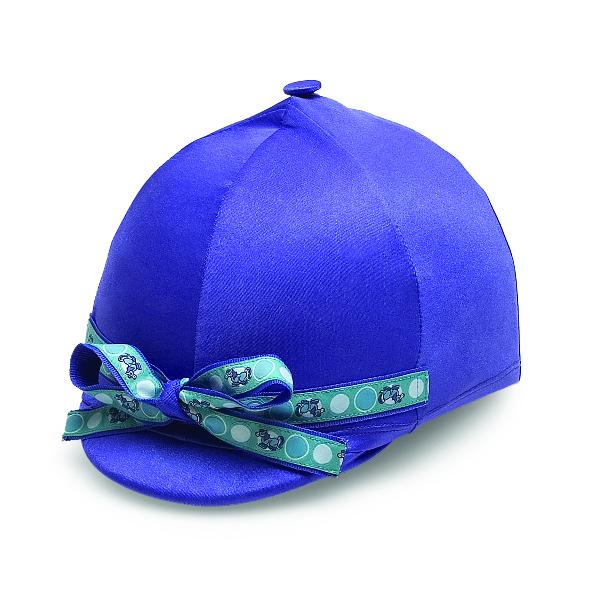 Perri's Purple Helmet Cover With Perriwinkle Ribbon