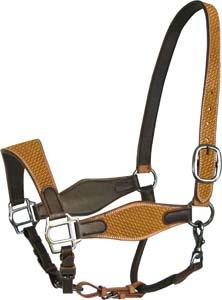 "Abetta Leather Halter with 1 3/4"" Noseband"