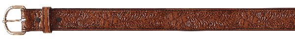 Tex Tan Leather Belt with Oak Leaf/Acorn Design