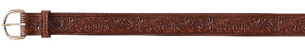 Tex Tan Leather Belt with Floral Design