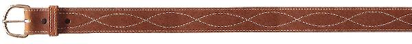 Tex Tan Harness Leather Belt with Figure 8 Stitching