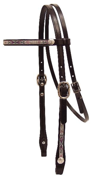 Tex Tan Headstall with Southwest Overlay