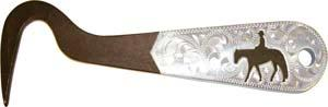 "Abetta Engraved Silver Overlay 6"" Hoof Pick"