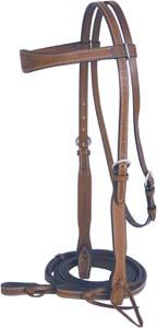 Abetta Basket Tooled Flared Bridle