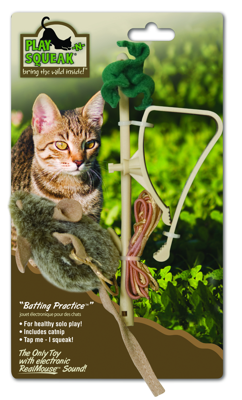 Play-N-Squeak Batting Practice Cat Toy