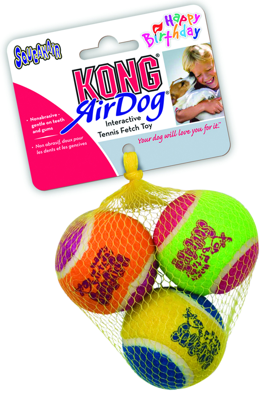 Kong Air Happy Birthday Squeaker Balls