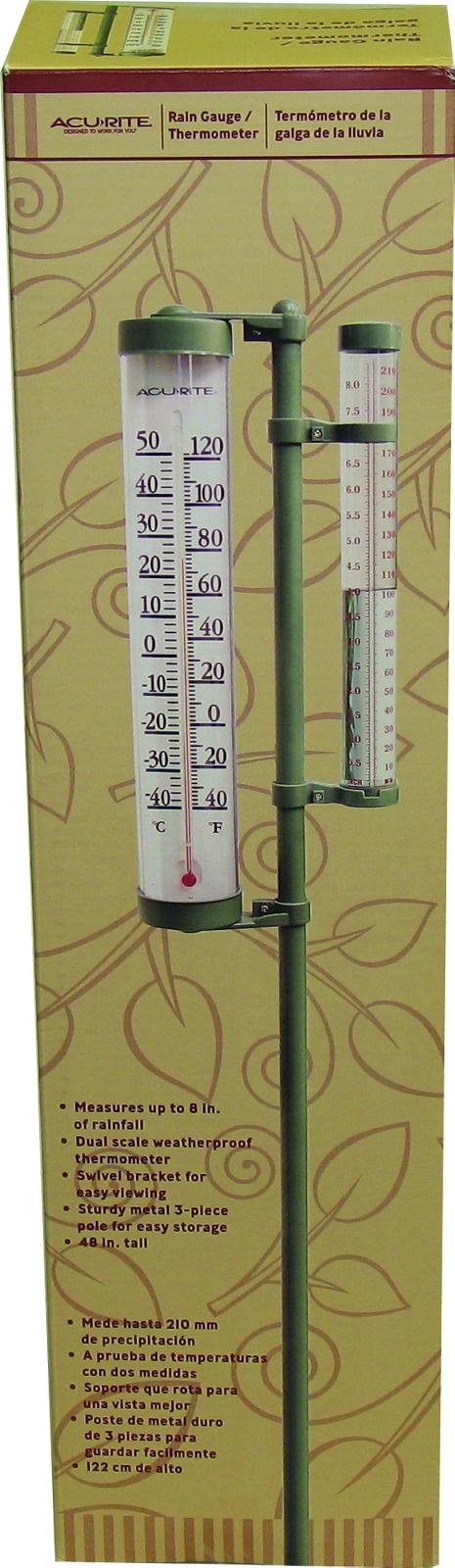 Thermometer Rain Gauge Combo