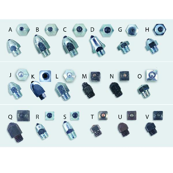 Nunn Finer Shaped Square Road Studs - Bag of 10