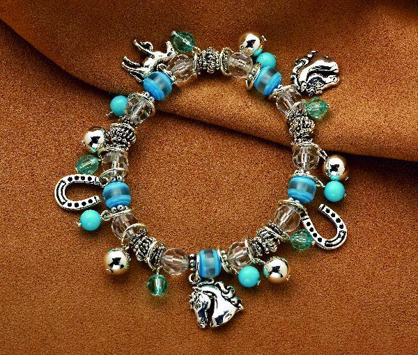 Horse Beads Stretch Bracelet