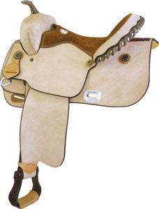 Billy Cook Saddlery Balance Ride Roughout Saddle