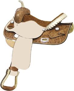 Billy Cook Saddlery Blackwood Floral Barrel Racer Saddle