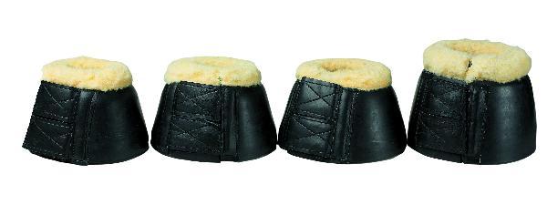 Fleece Bell Boots with Double hook & loop fastener