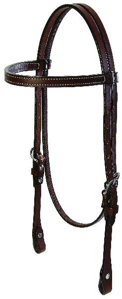 Weaver Bridle Leather Browband Headstall