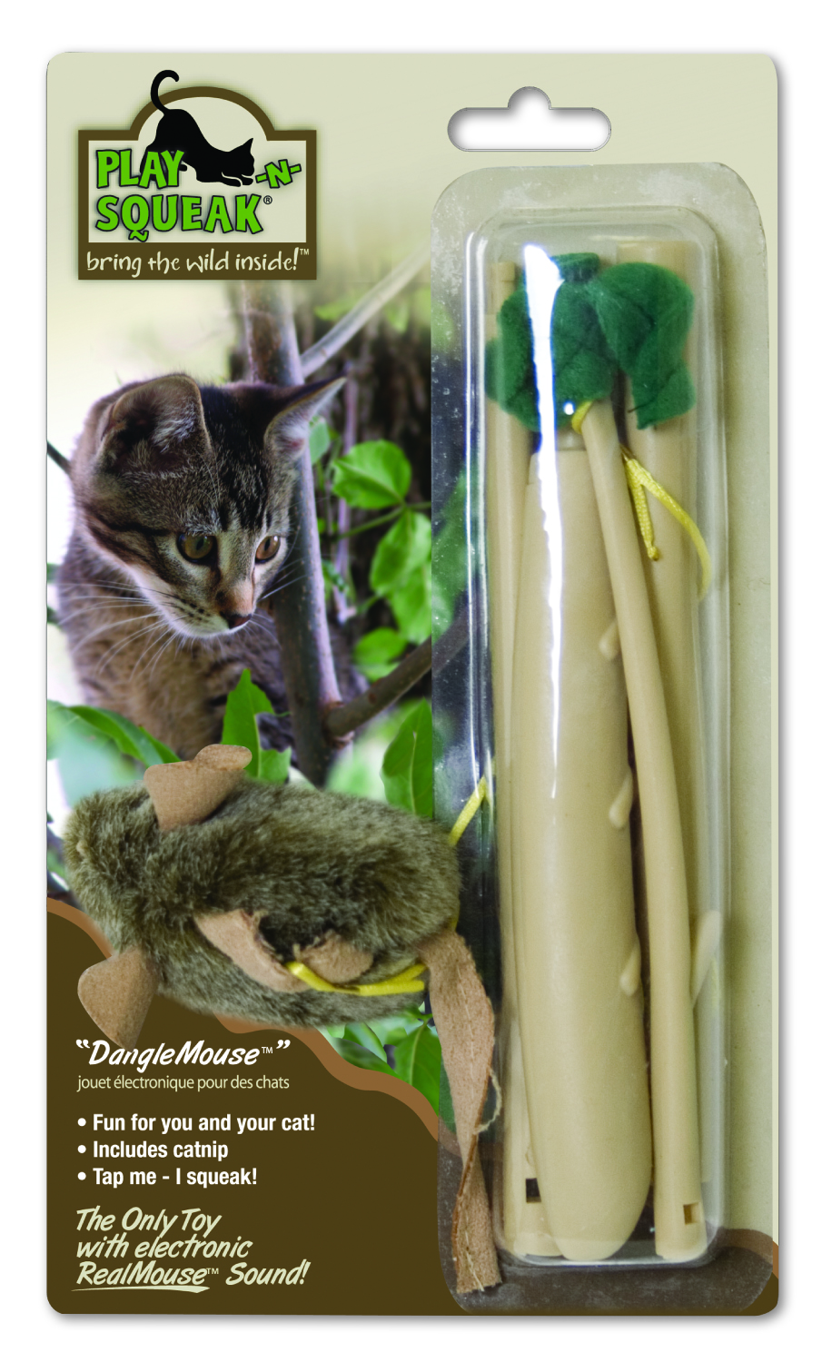 Play-N-Squeak Dangle Mouse Toy