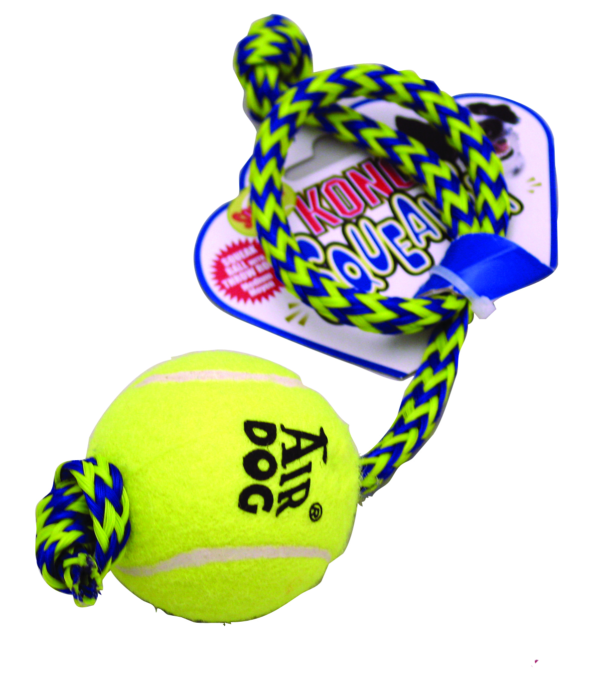 Kong Squeaker Ball with Rope
