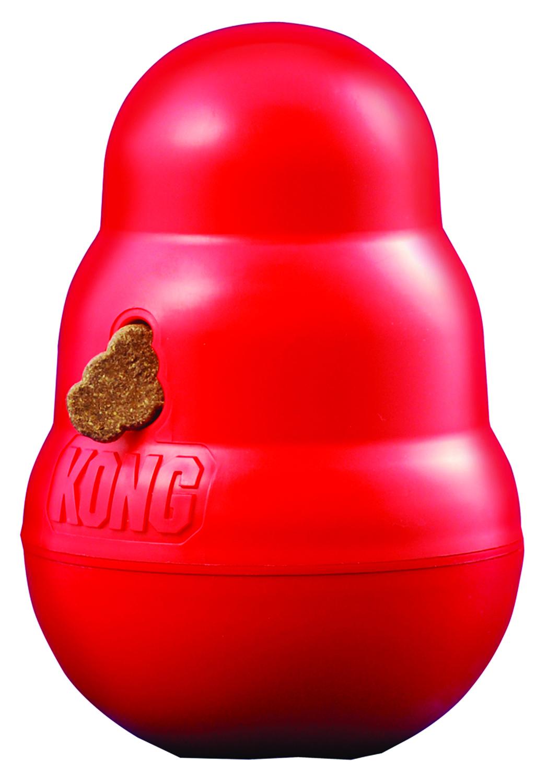 Kong Wobbler - Dog Treat And Food Dispenser Toy