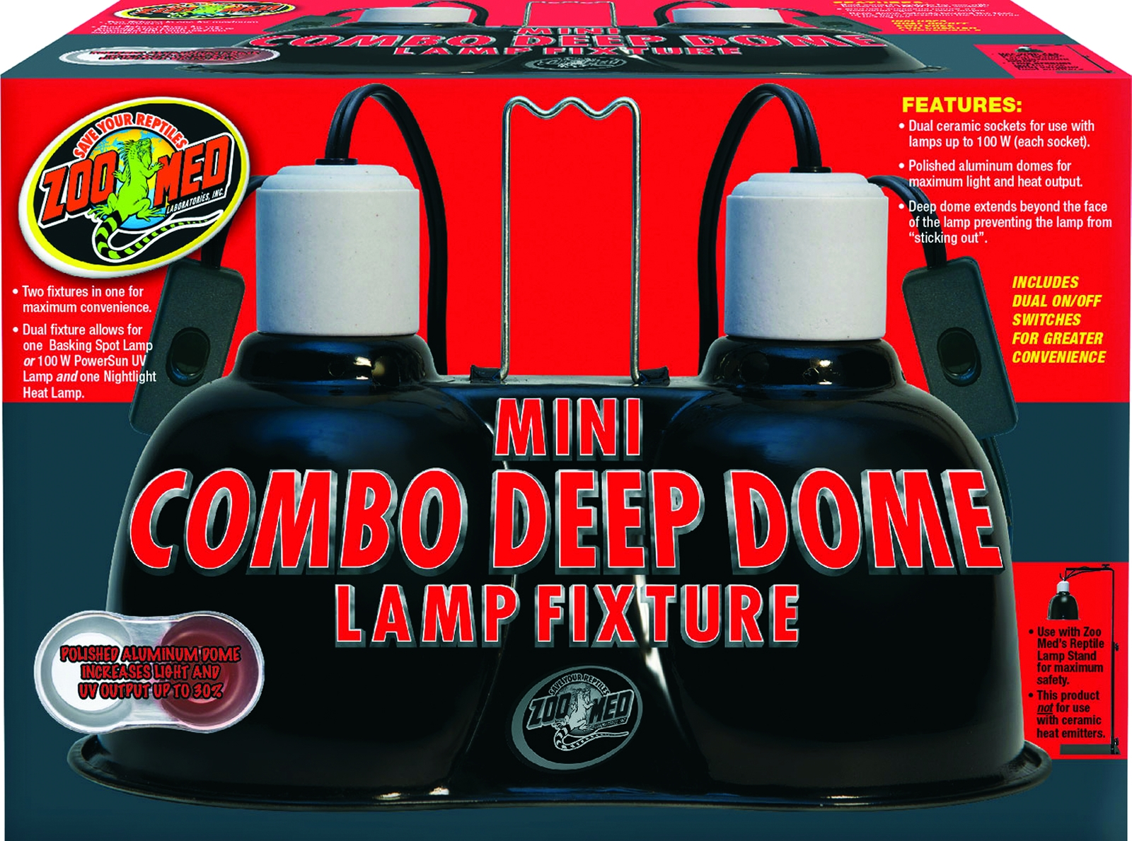Zoo Med Combo Deep Dome Lamp
