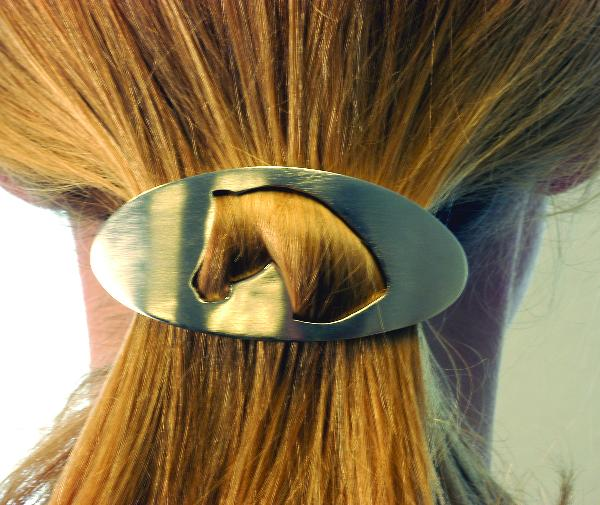 Cut Out Horse Head Hair Barrette