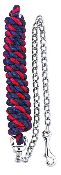 Perri's Cotton Multi-Colored Lead With Chain